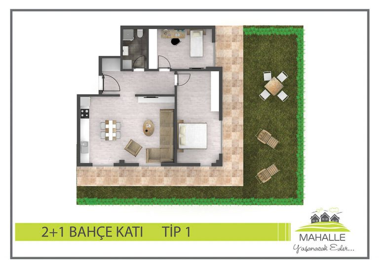 2+1 Garden Mahalle Residences Antalya