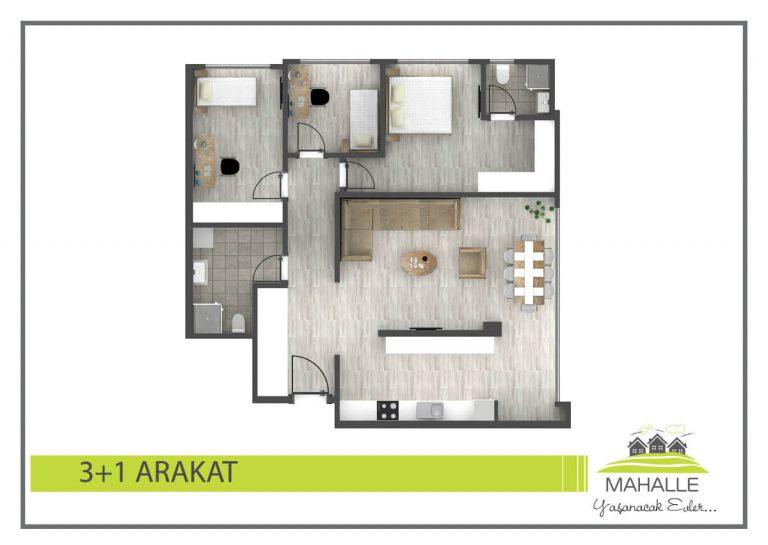 3+1 Mahalle Residences Antalya