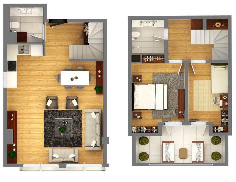 2 + 1 Duplex Deluxe 115 m2
