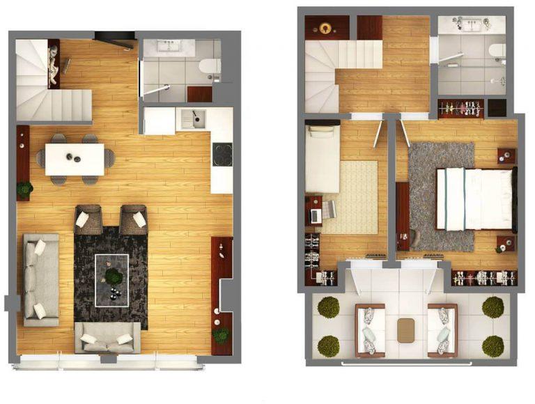 2 + 1 Duplex Sute 110m2
