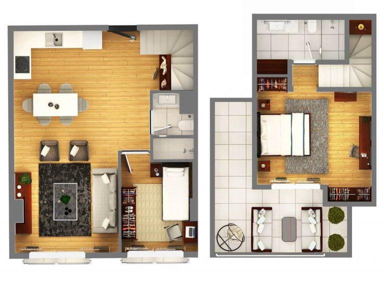 2 + 2 Duplex Deluxe 120 m2