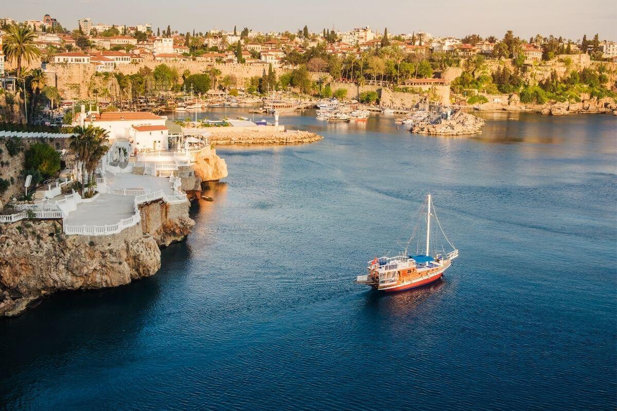 A view of Antalya Harbor