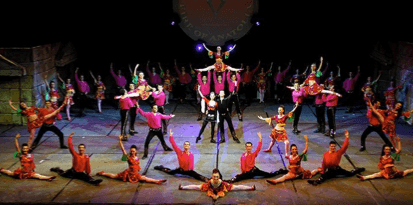 Stage show from the famous dance group Fire of Anatolia