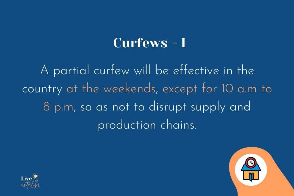 Covid-19 Restrictions in Turkey November 2020