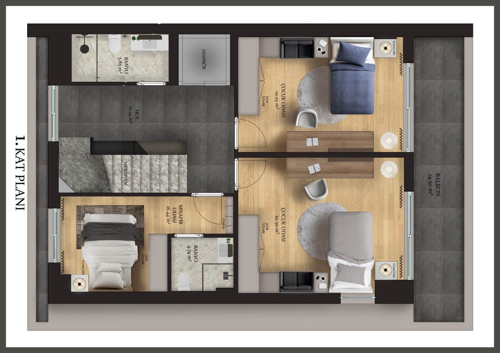Konyaaltı Luxury Villas - First Floor