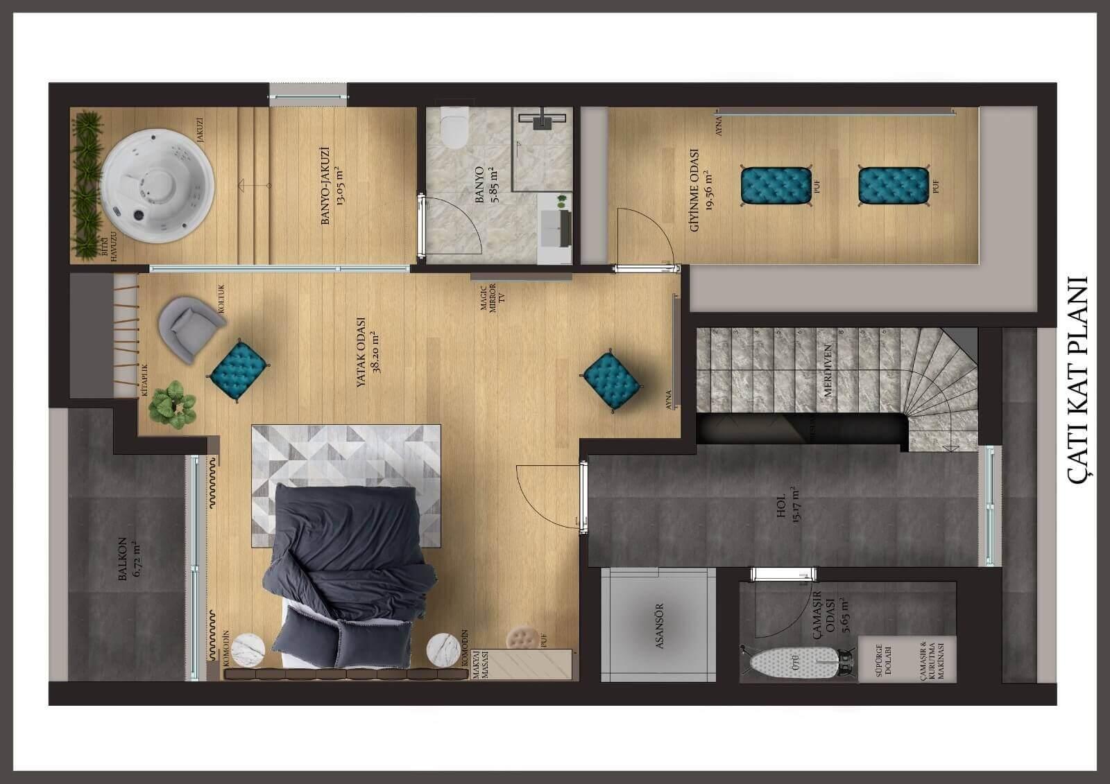 Konyaaltı Luxury Villas - Second Floor