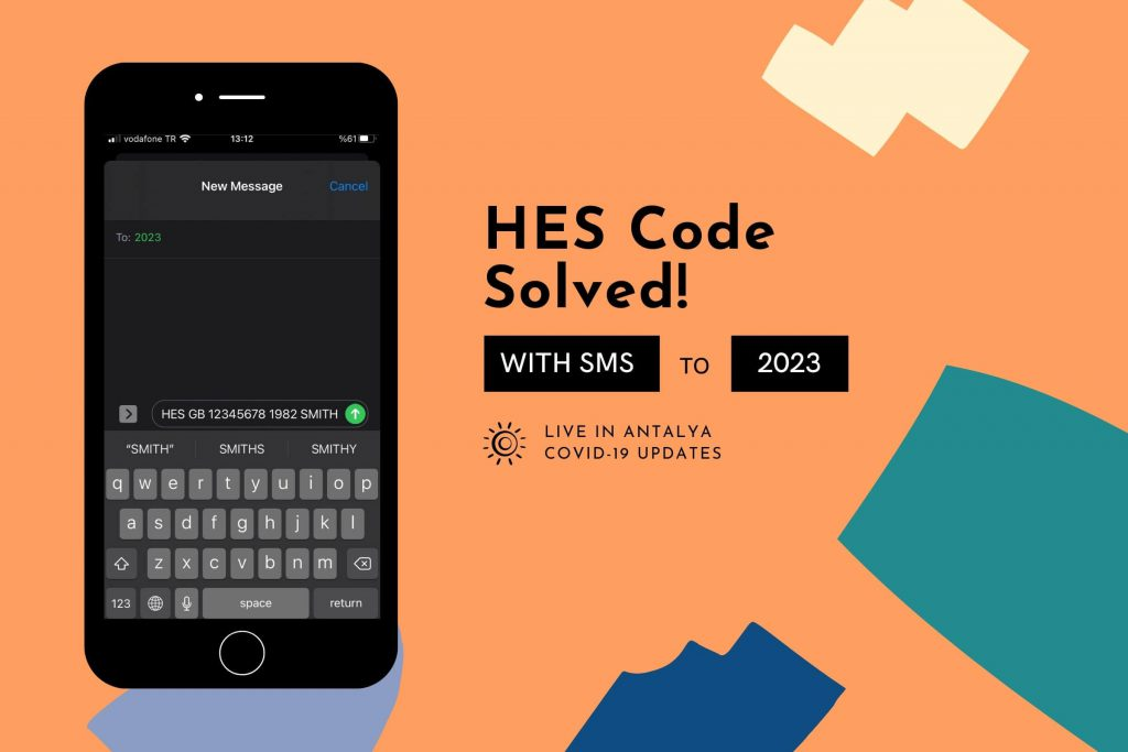 Hes Code in Turkey solved with single SMS