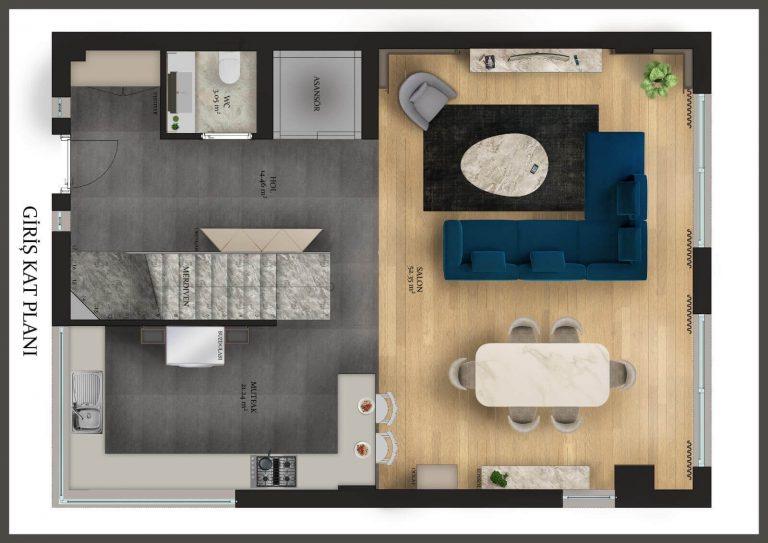 Konyaaltı Luxury Villas - Ground Floor
