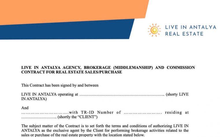 Buy Real Estate in Antalya - Sales Agreement - Live in Antalya
