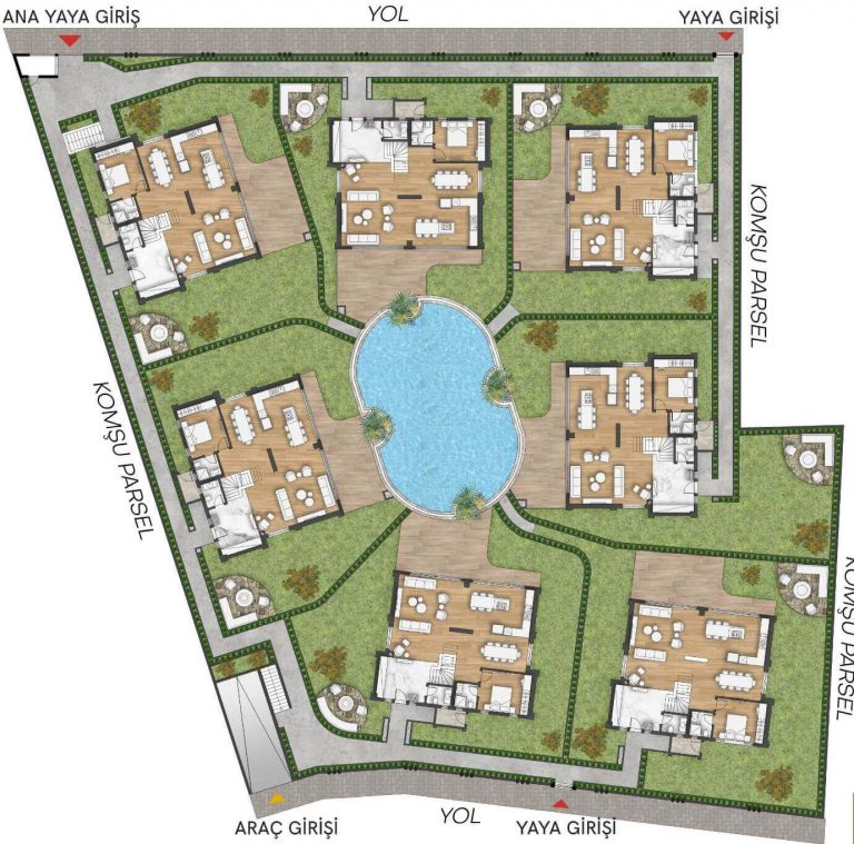 Lara Grand Villas in Antalya - Location Plan
